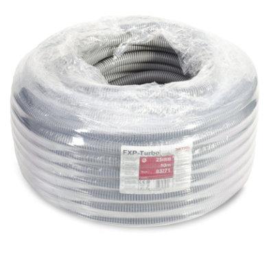 Zaštitna rebrasta cijev CSP 25 - crna/siva (fi 20mm)