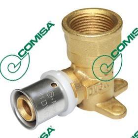"""Press prijelazna zidna pločica za PEX i PE-RT cijevi 20x2x3/4"""" - Comisa"""
