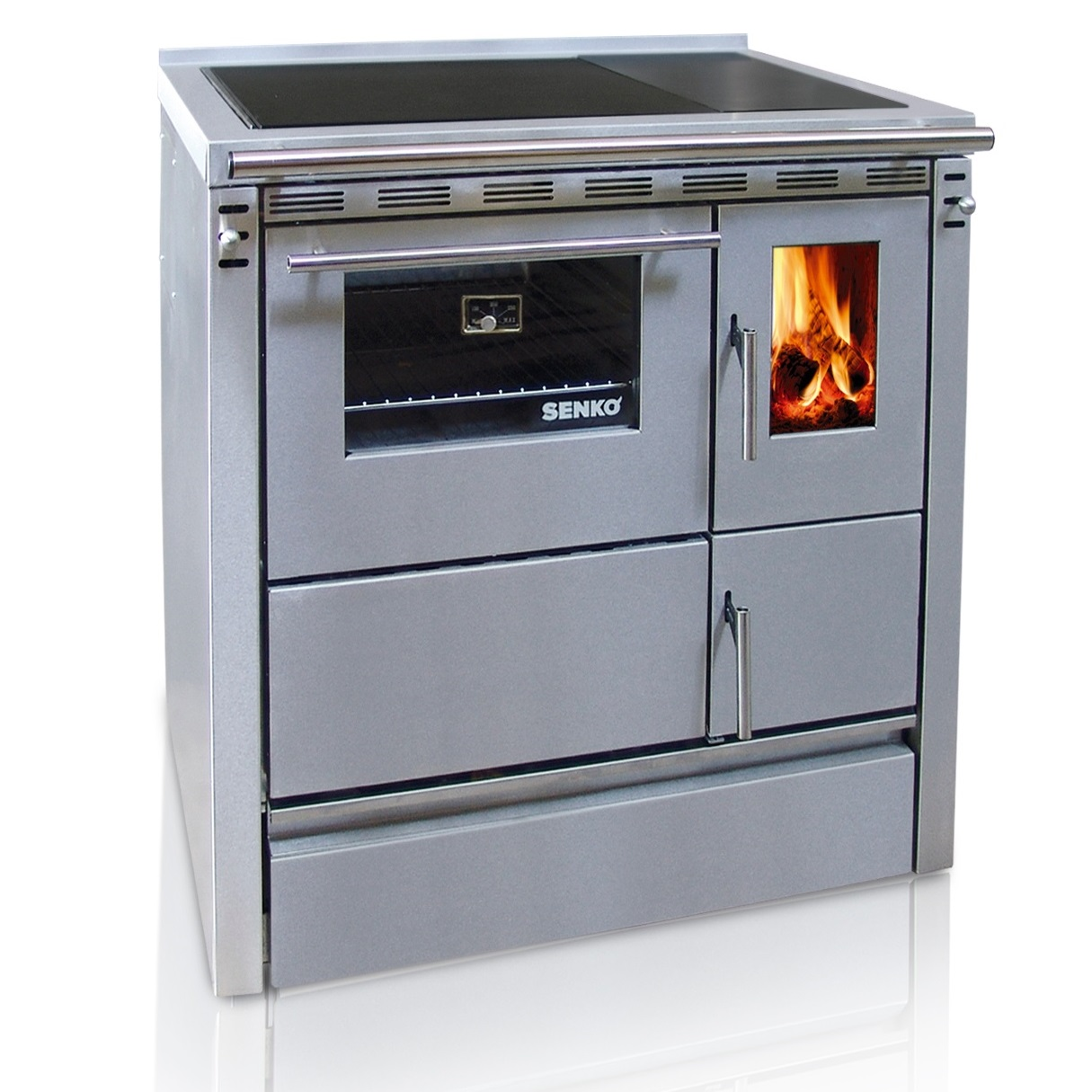 SENKO solid fuel cooker SG-75 2375D (7.5kW), chimney connection on ...